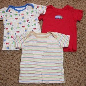 okie dokie Shirts & Tops - 3 NEW OKIE DOKIE BABY BOY SHIRT! 0-3 mos
